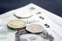 Argent liquide et pièces de monnaie 1 photos stock