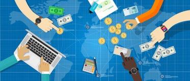 Argent monétaire fiscal de politique économique jouant Photographie stock libre de droits