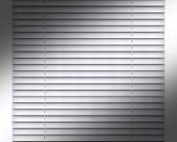 Argent ou intérieur horizontal gris de décoration de fenêtre d'abat-jour Photographie stock