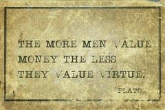 Argent Platon de valeur images libres de droits