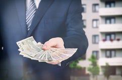 Argent polonais de vraies prises d'agent immobilier photographie stock