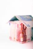 argent proche de maison vers le haut Image libre de droits