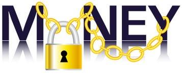 Argent, réseau et cadenas illustration de vecteur