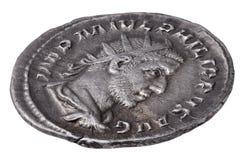 argent romain de pièce de monnaie antique Images stock