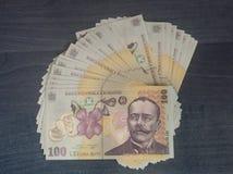 Argent roumain 100 ron Image libre de droits
