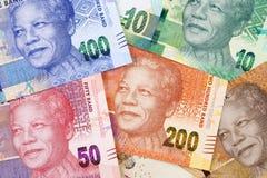 Argent sud-africain un fond photographie stock libre de droits