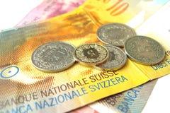 Argent suisse Photos libres de droits