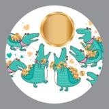 Argent superbe de crocodile illustration stock