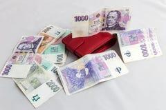 Argent tchèque Images stock