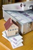 Argent tchèque - billets de banque dans un cas image libre de droits