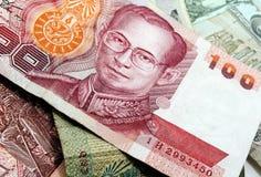 Argent thaï Image stock