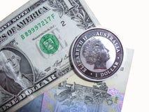 Argent, une pièce de monnaie Images libres de droits