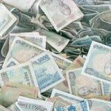 Argent vietnamien, factures chiffonnées Images stock