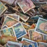 Argent vietnamien, factures chiffonnées Photo libre de droits