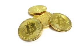 Argent virtuel de Bitcoin Image de photo Photo stock