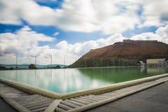 Argentario de monte de station thermale d'hôtel (toscany) Photo libre de droits