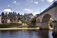 Argentat in the Dordogne Royalty Free Stock Photos