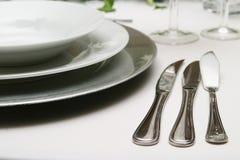 Argenterie et vaisselle Photographie stock