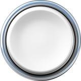 Argentez le bouton Photos libres de droits