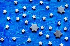 Argentez les étoiles Image libre de droits