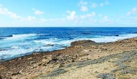 Argentiera岩石岸 免版税库存照片