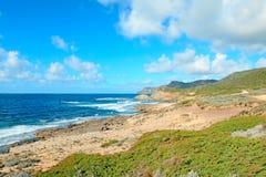 Argentiera coastline Stock Images