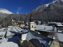 Argentiere church Royalty Free Stock Image