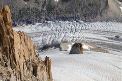 Argentiere glacier stock images