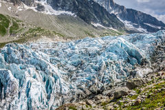 Argentiere Glacier in Chamonix Alps, Mont Blanc Massif, France. Royalty Free Stock Photos