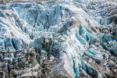 Argentiere Glacier in Chamonix Alps, Mont Blanc Massif, France. Royalty Free Stock Images