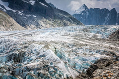 Argentiere Glacier in Chamonix Alps, Mont Blanc Massif, France. Stock Photo