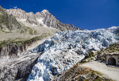 Argentiere Glacier in Mont Blanc, France Royalty Free Stock Photography