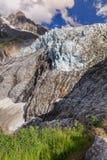 Argentiere glaciär i Chamonix Alps, Frankrike Royaltyfri Foto