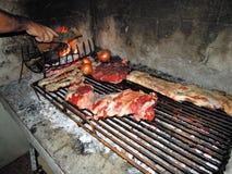 Argentijnse asado Royalty-vrije Stock Foto