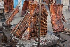Argentijnse asado Royalty-vrije Stock Foto's