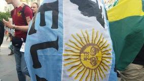 Argentijnse funs op streen stock videobeelden