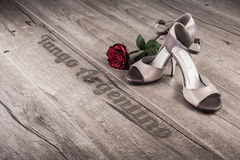 Argentijnse tangoaffiche of prentbriefkaar Royalty-vrije Stock Fotografie