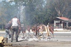 Argentijnse typische barbecue Royalty-vrije Stock Foto's