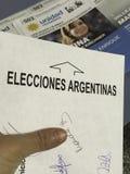 Argentijnse verkiezingen royalty-vrije stock afbeeldingen