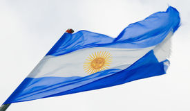 Argentijnse Vlag Stock Afbeelding