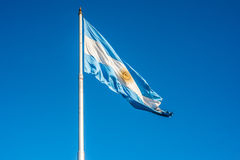 Argentijnse vlag in Buenos aires, Argentinië stock foto
