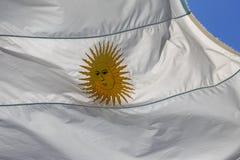 Argentijnse vlag stock afbeeldingen