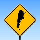 Argentina översikt på vägmärke royaltyfri illustrationer