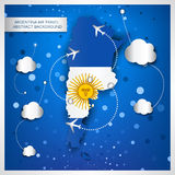 Argentina air travel abstract background Stock Photo
