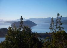 Argentina Bariloche Patagonia panorama view lake and mountains Stock Photos