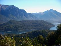 Argentina Bariloche Patagonia panorama view lake and mountains Stock Photo