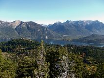 Argentina Bariloche Patagonia panorama view lake and mountains Stock Photography