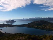 Argentina Bariloche Patagonia panorama view lake and mountains Stock Images