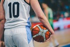 Argentina basketspelare under basketmatchen ARGENTINA vs AUSTRALIEN royaltyfria bilder