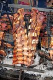 Argentina beef asado. A traditional argentina beef asado stock photo